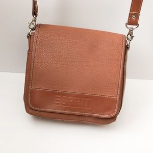 Esprit brand brown crossbody bag